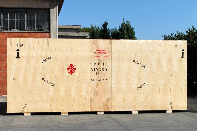 Imballaggi in legno per opere d'arte e installazioni